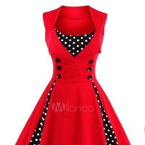 Dresses & Skirts - Rockabilly VTG Style 1950's Slimfit Circle Dress